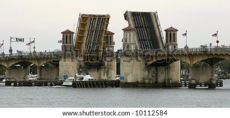 The Bridge of lions in St Augustine Florida - stock photo
