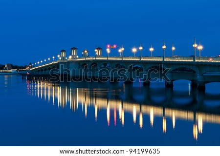 The Bridge of Lions in St. Augustine, Florida - stock photo