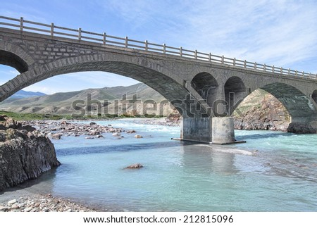 The bridge over a river