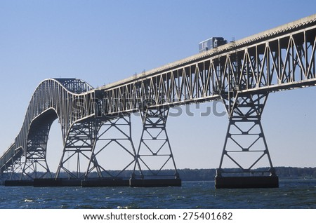 The bridge over Chesapeake Bay, Lucius J. Kellam, Jr. Bridge-Tunnel, Virginia - stock photo