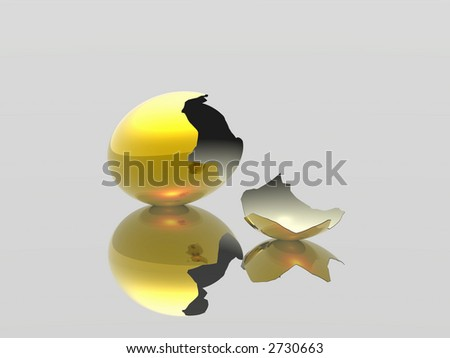 The broken egg. The destroyed dreams - stock photo