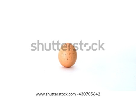The  brown eggs isolated on white - stock photo