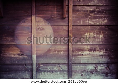 the brown old wood wall texture - stock photo