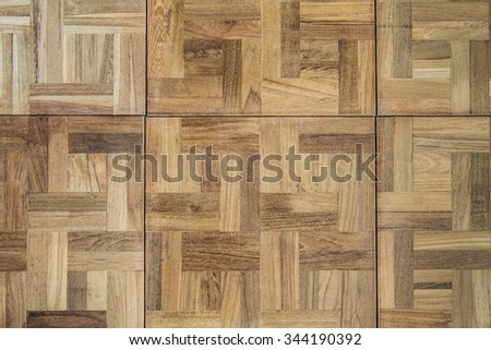 the brown wood texture of floor with natural patterns - stock photo