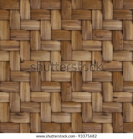 the brown wooden texture of rattan with natural patterns - stock photo