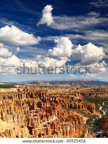 The Bryce Canyon National Park in Utah USA