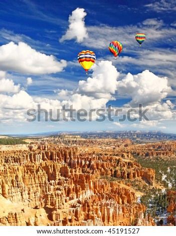The Bryce Canyon National Park in Utah USA - stock photo