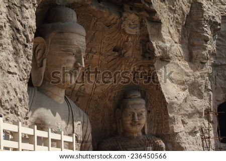 The Buddha Statue of Yungang in China