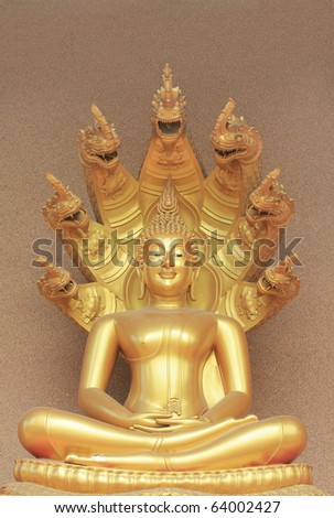The Buddha status - stock photo