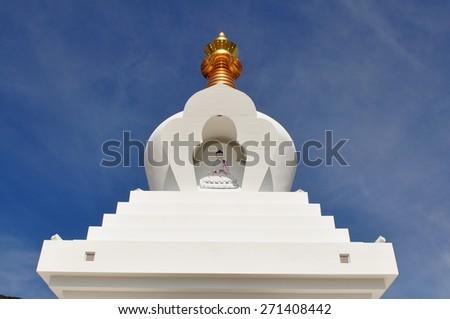 The Buddhist Stupa in Benalmadena, Spain - stock photo