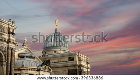 The building in the historic centerof Dresden (landmarks), Germany    - stock photo