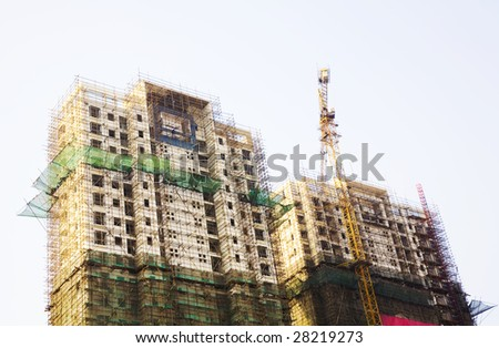 The building is under construction - stock photo