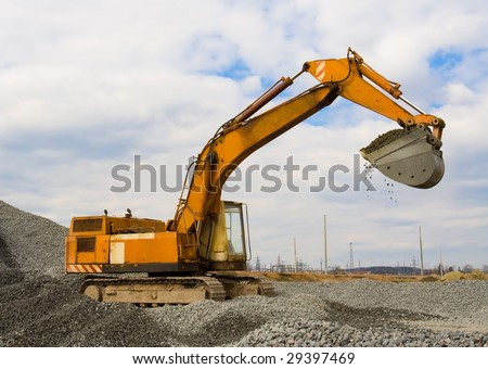 The building machine for performance of ground works - stock photo