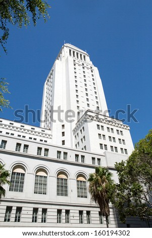 The building of the Los Angeles City Hall  - stock photo