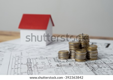 The building permit is an additional cost. - stock photo