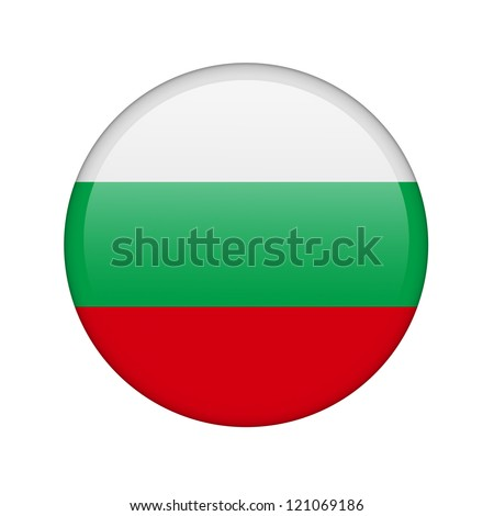 The Bulgarian flag in the form of a glossy icon. - stock photo