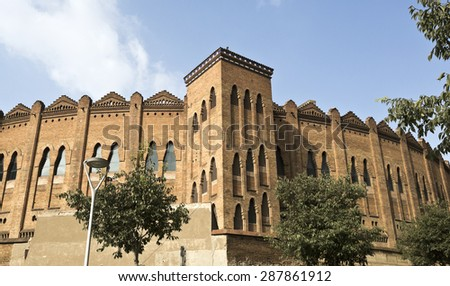 The bullfighting arena of Barcelona, Catalonia, Spain, also called La Monumental - stock photo
