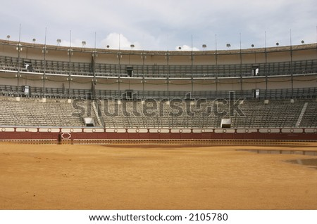 The bullring in Andalusia, Spain - stock photo
