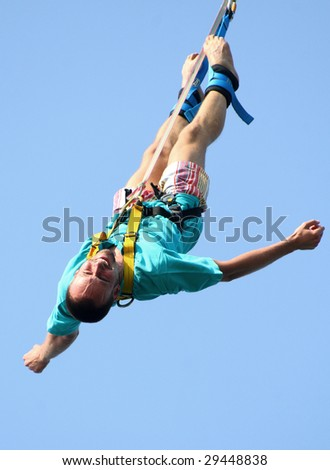the bungee jump - stock photo