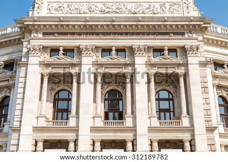 The Burgtheater (Imperial Court Theater) is the Austrian National Theatre in Vienna and one of the most important German language theatres in the world. - stock photo