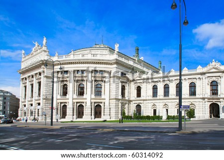 The Burgtheater is the Austrian National Theatre in Vienna and one of the most important German language theatres in the world. It was built in 1888. Austria - stock photo