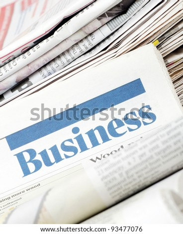 The business newspaper - stock photo