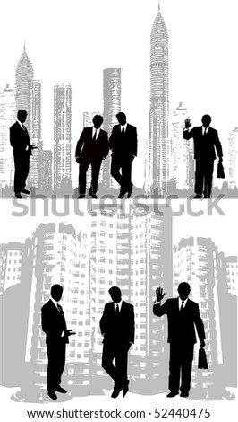 the business silhouette