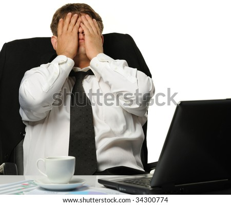 The businessman -  bankrupt - stock photo