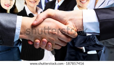 The businessman. Hand for a handshake. The conclusion of the transaction. - stock photo