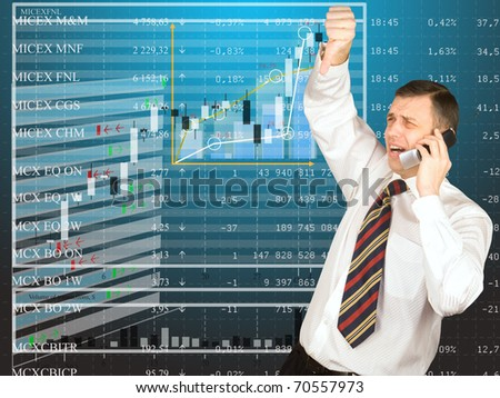The businessman participating in the exchange currency auctions does not hide emotion of disappointment from results of auction - stock photo