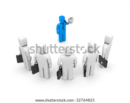 The businessman speak - stock photo