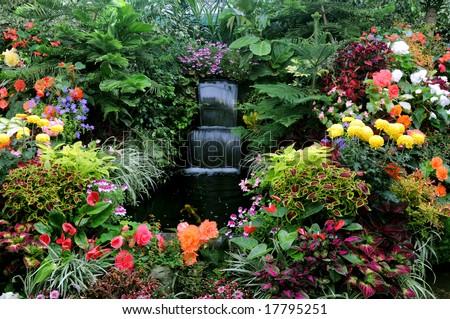 The Butchart Gardens, Victoria, BC, Canada - stock photo