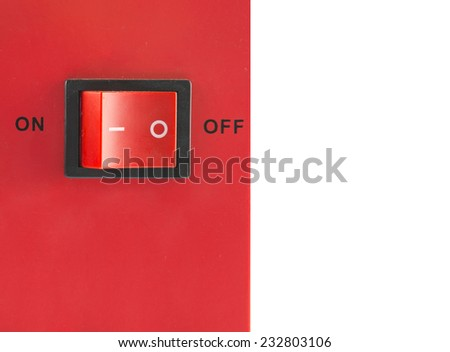 The button of the switch - stock photo