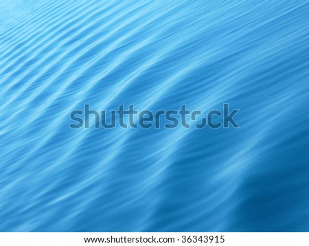 The calm on a blue sea. Photo maded from ship. - stock photo