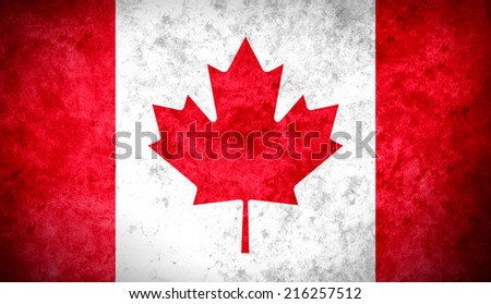 The Canadian colorful textured flag - stock photo