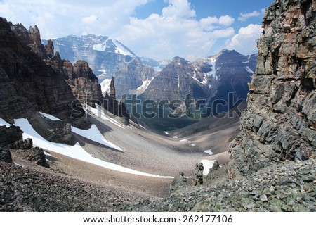 The Canadian Rocky Mountains - stock photo