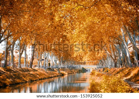 The Canal du Midi, France - stock photo