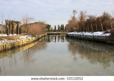 The canal in Torcello, Venice