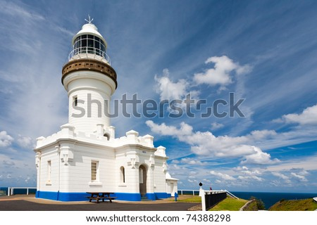 The Cape Byron lighthouse, New South Wales, Australia - stock photo