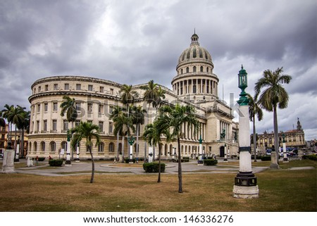 The Capitol building in Havana - stock photo