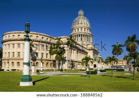 The Capitol building in Havana, Cuba - stock photo