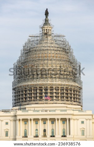 The Capitol Building in Washington, DC. - stock photo