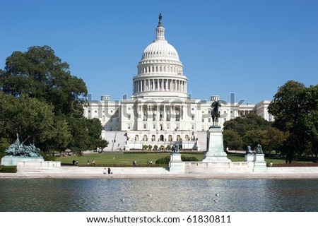 The Capitol Building Washington DC - stock photo