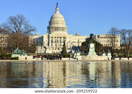 The Capitol in Winter - Washington D.C. United States - stock photo