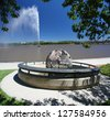 The Captain Cook Memorial in Canberra, Australia - stock photo