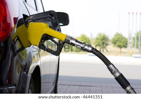 The car on a filling station - stock photo