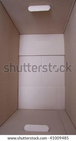 the cardboard box closeup - stock photo