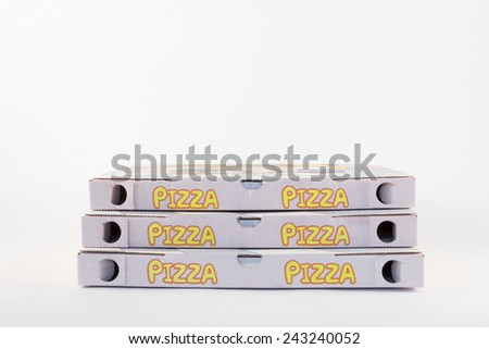 the cardboard to the pizza for delivery  - stock photo