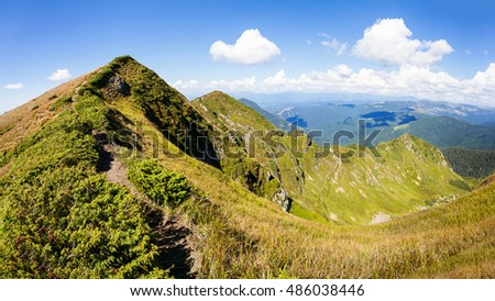 The Carpathian mountains are a chain of mountain peaks