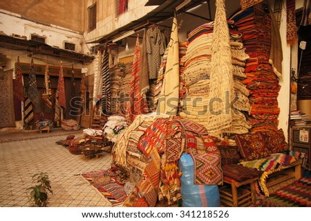 The carpet shop in Morocco